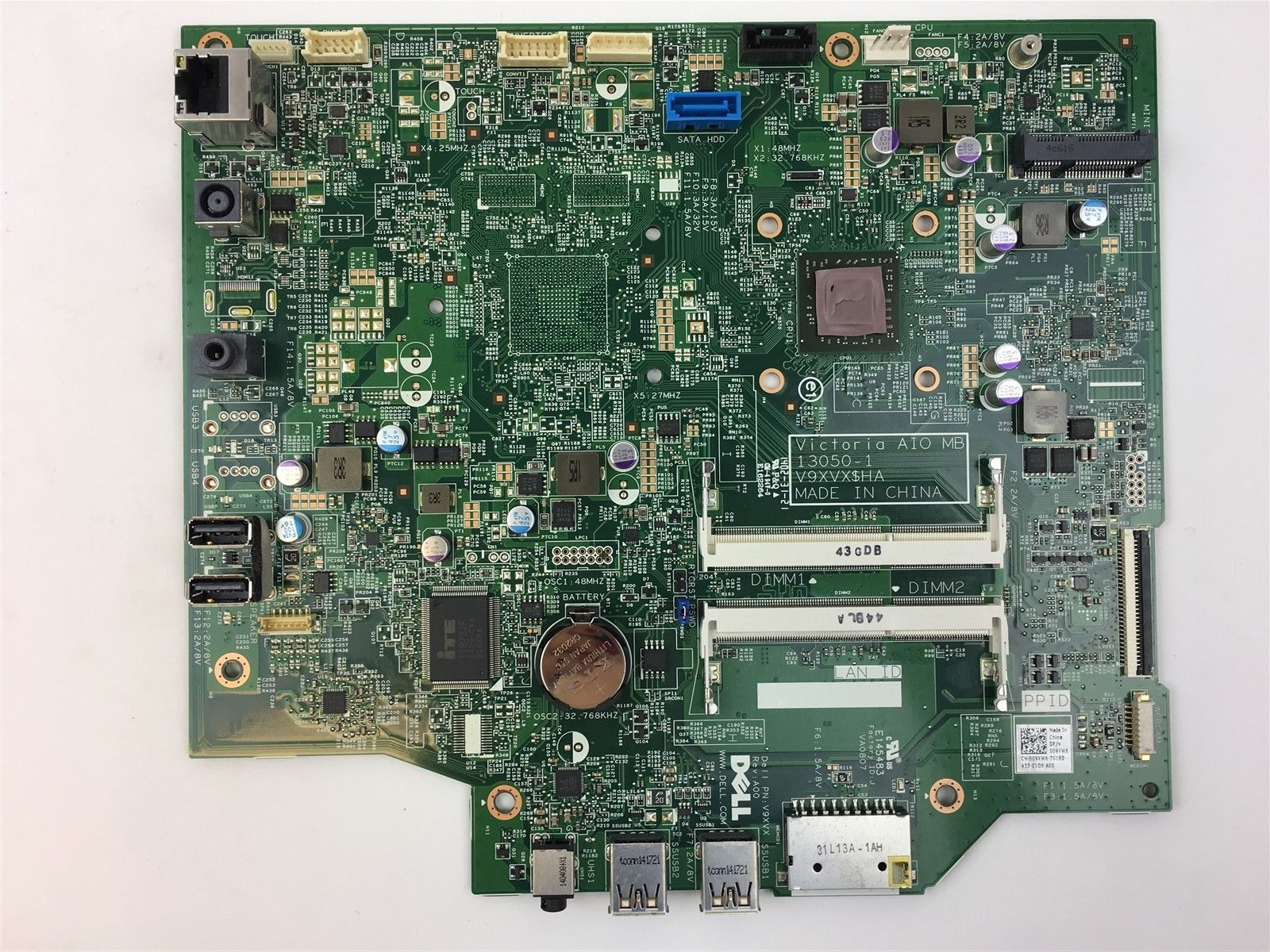 Dell Inspiron 20 3045 AIO AMD 1.4GHz CPU E1-2500 Motherboard 09XW6 009XW6