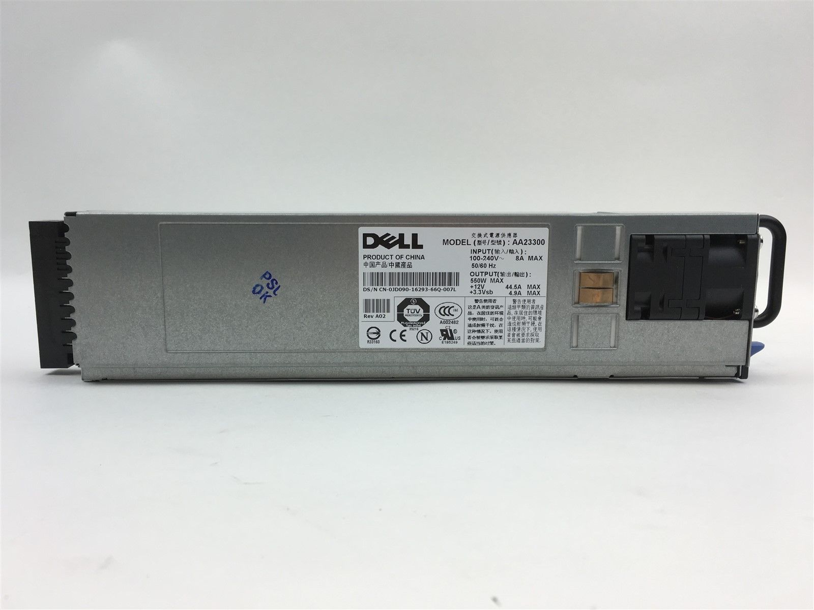 Genuine Dell PowerEdge 1850 550W AA23300 Power Supply JD090 0JD090