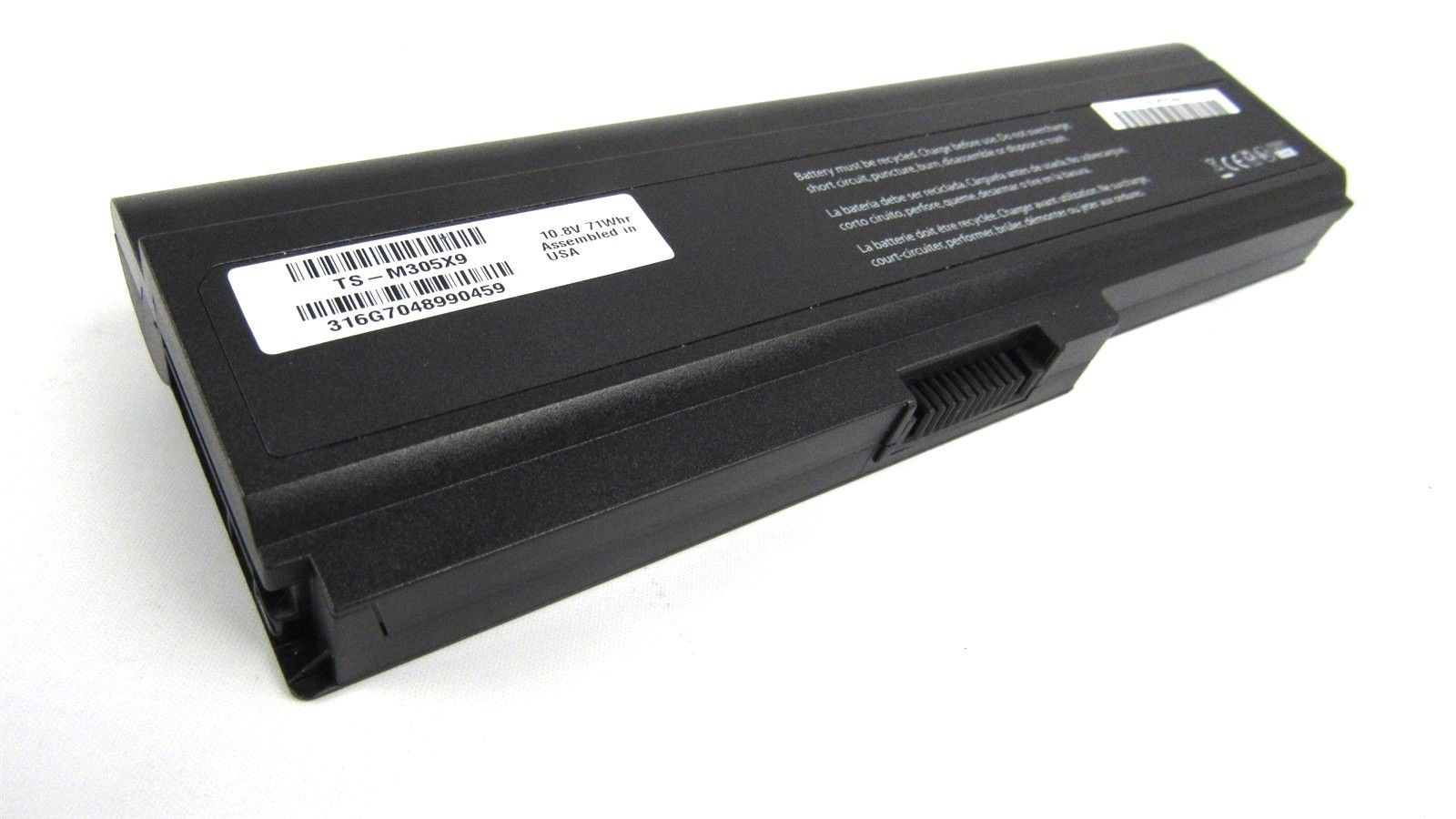 Battery for Toshiba Satellite M300 M305 M305D U400 U405 10.8V 71Whr TS-M305X9