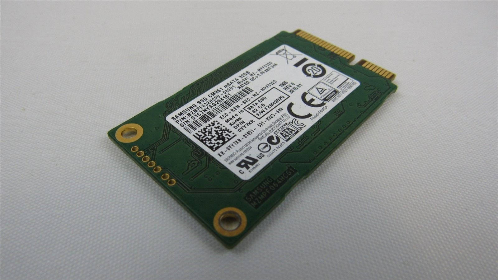 Dell mSATA Mini-PCIe Laptop SSD 32GB 6Gb/s YY7XR 0YY7XR