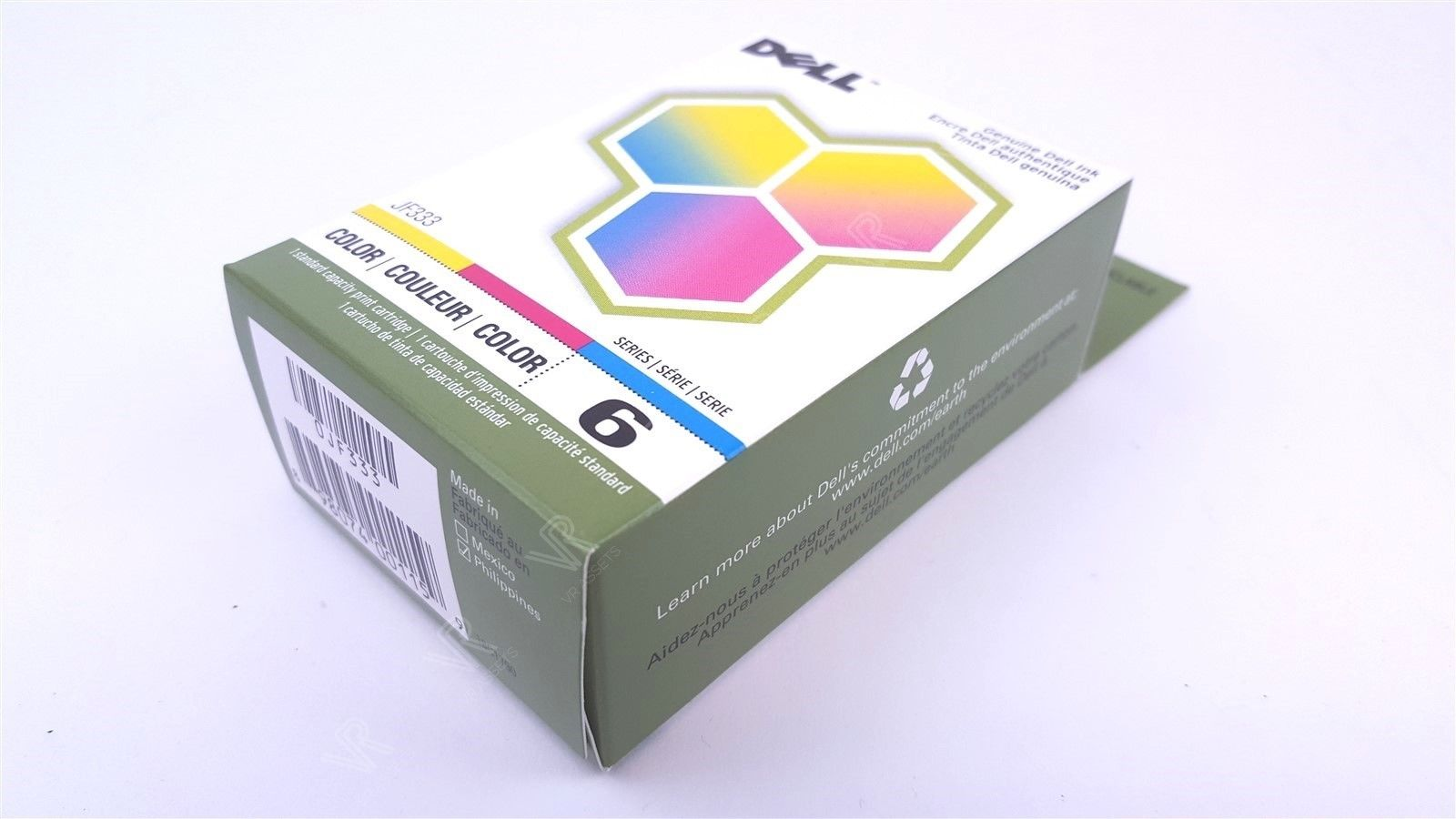 Dell 6 Series 725 810 Color Ink Standard Capacity Cartridge JF333 New 2 Pack