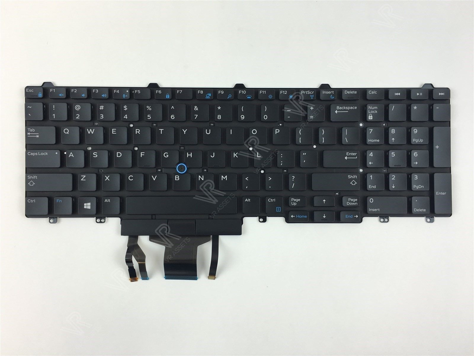 Genuine Dell SG-63310-XUA SN7232BL US Black Backlit Keyboard 383D7 0383D7