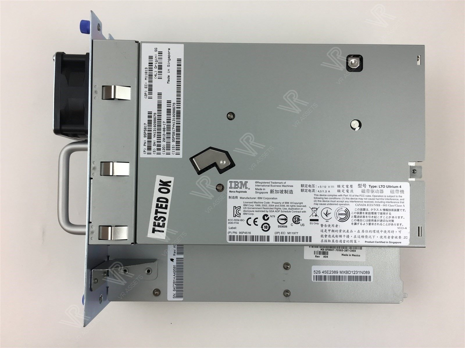 Dell LTO Ultrium 4 FH FC TL2000/TL4000 IBM Tape Drive Internal Data F866T 0F866T