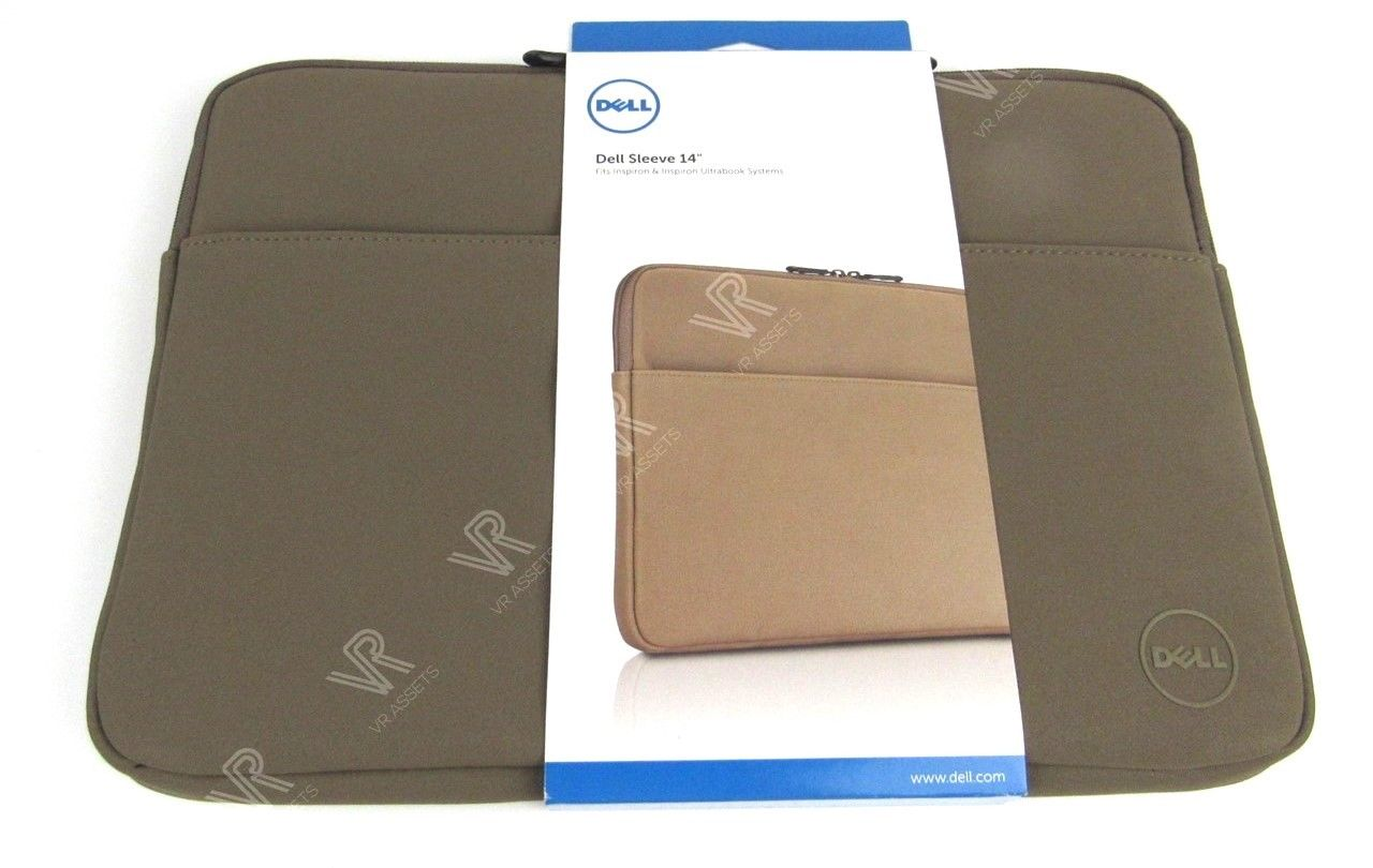 "Genuine Dell Faux Suede Sleeve For 14"" Inspiron Laptop Bag RFHW4 0RFHW4 New"