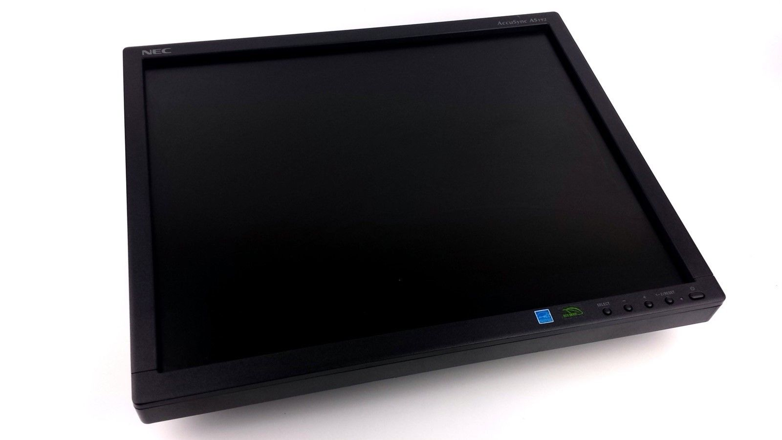 "NEC AccuSync AS192 FHD LCD Computer Monitor 19"" w/ Power & VGA Cord Black"