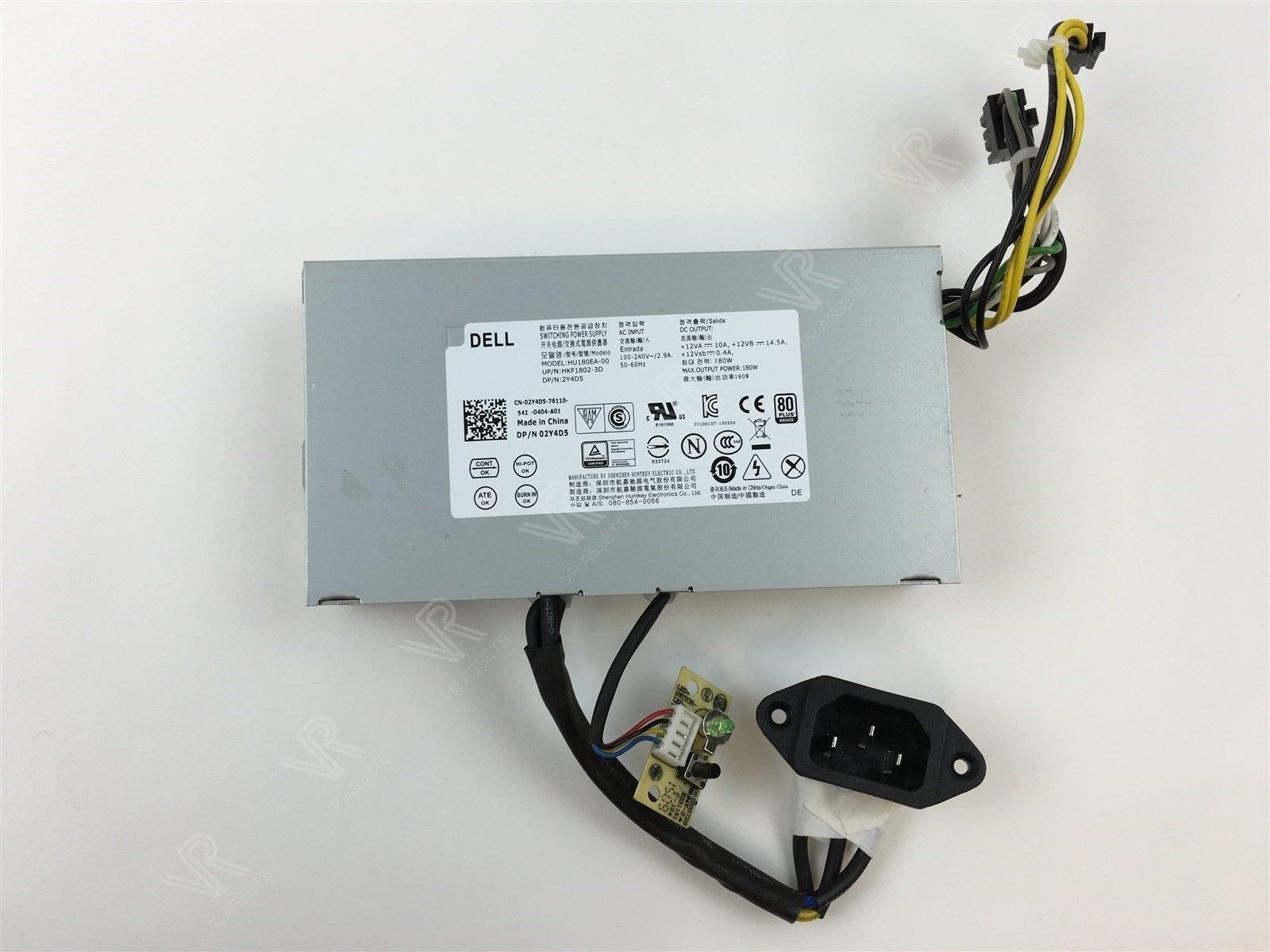 Dell Optiplex 3030 AIO 180W Power Supply HU180EA-00 HKF1802-3D 2Y4D5 02Y4D5