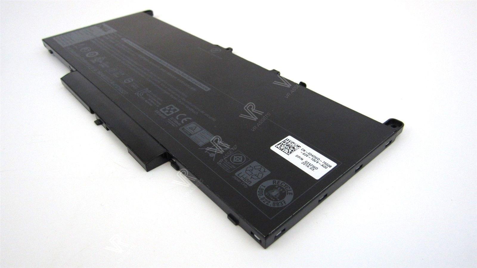 Genuine Dell Latitude E7270 E7470 Battery 7 6V 55Wh Type J60J5 242WD 0242WD