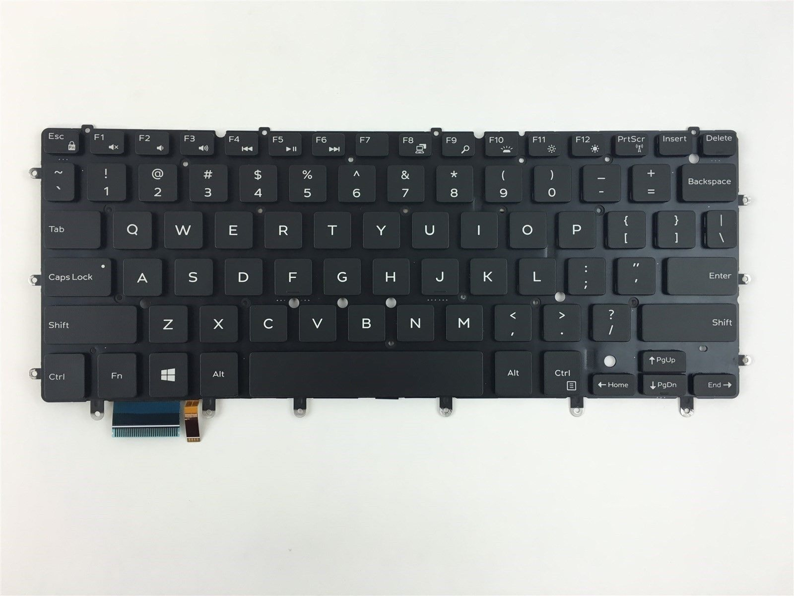 Dell Inspiron 13 7347 7348 US Backlit Keyboard 13PK1316I1A00 NSK-LS0BC 01 DKDXH