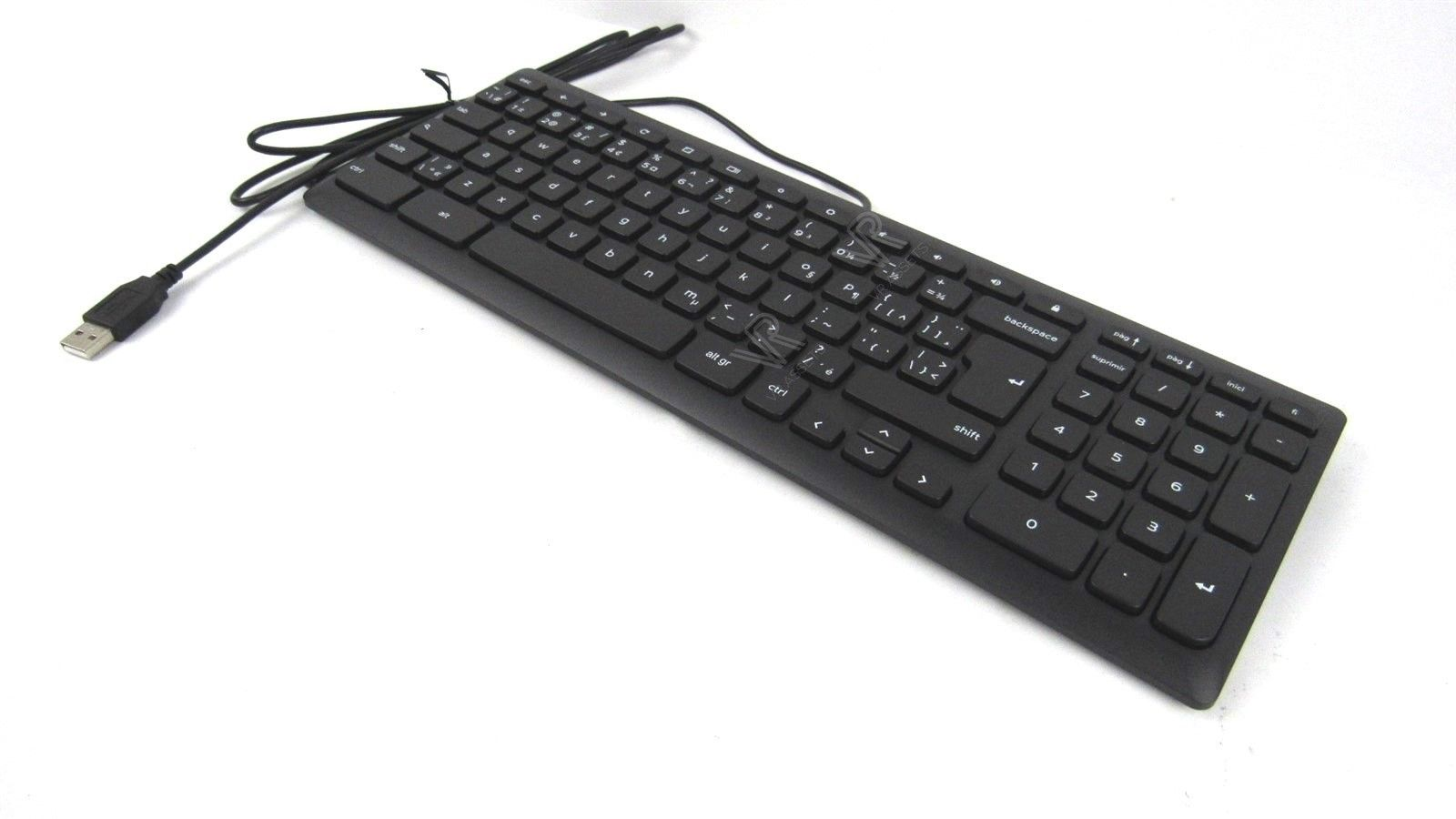 Dell USB Slim Wired Multimedia Keyboard for Google Chrome KB69211 KV8MM 0KV8MM