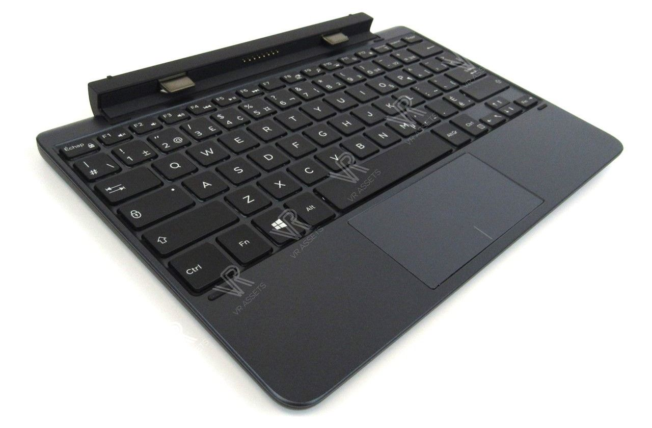 Dell Venue 10 Pro 5055 5056 Tablet French-Canadian Keyboard Dock Battery D8D4H