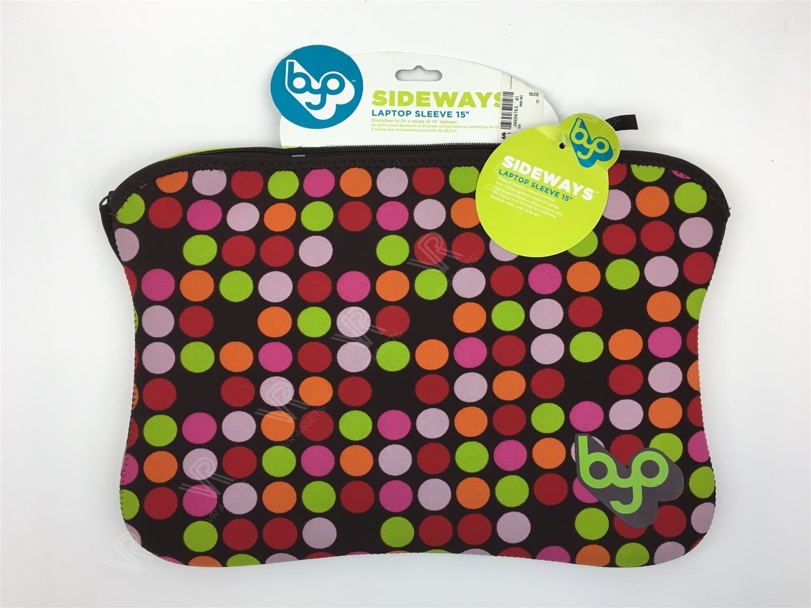 "New Sideway Laptop Sleeve 15"" Multicolor Zipper Bag Carry Case 12""-13"""