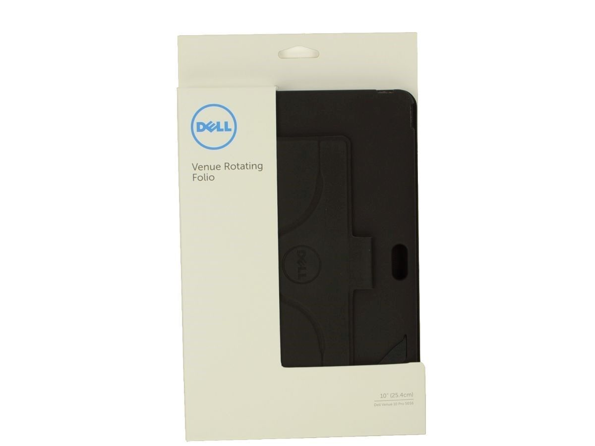 Genuine Dell Venue 10 Pro 5056 Rotating Folio Flip Cover Black 4T6JT 04T6JT