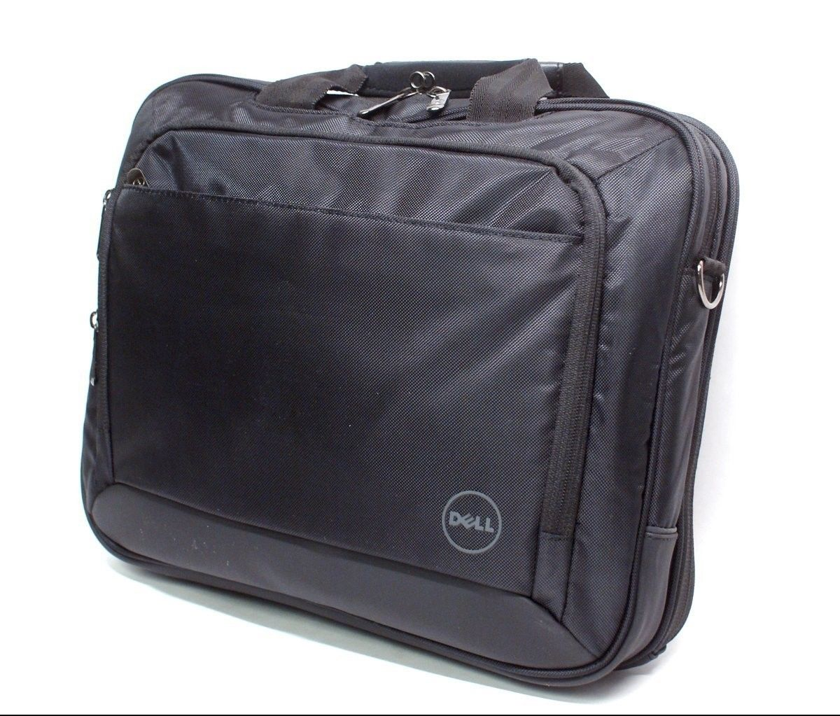 "Dell Laptop Bag with Shoulder Strap Fits up to 15.6"" Nylon Black WG1V8 0WG1V8"