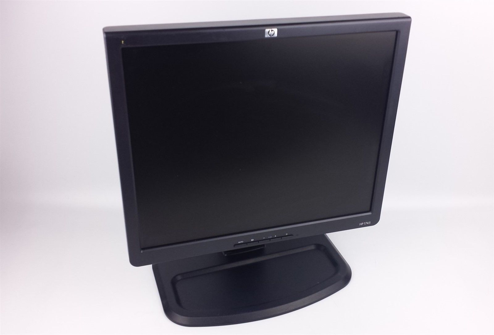 "HP L1745 LCD Flat Panel Display Computer Monitor 17"" with Tall Stand & Cables"