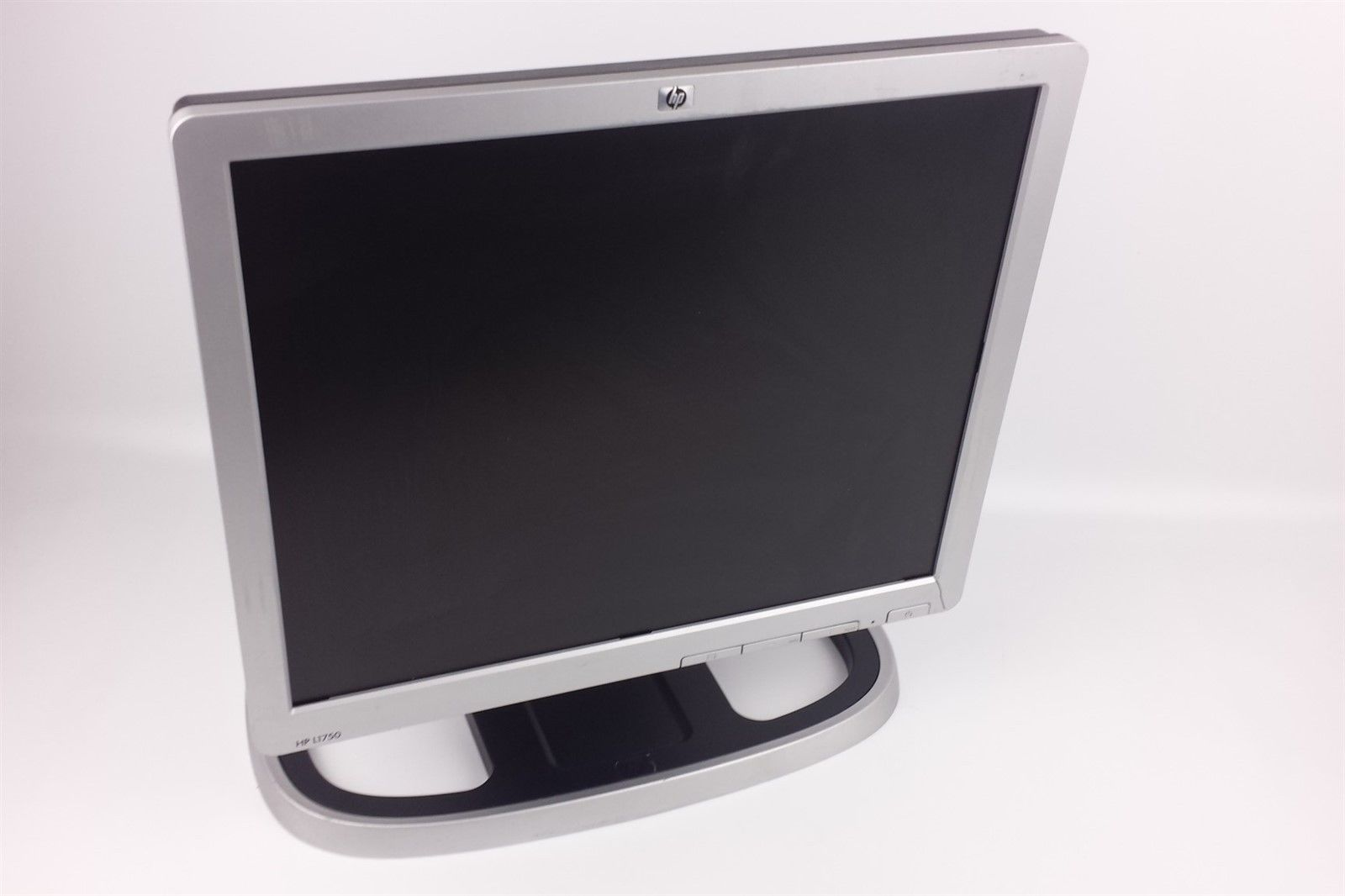 "HP L1750 Flat Screen LCD Computer Monitor 17"" GF904A w/ Hard Stand & Cables"