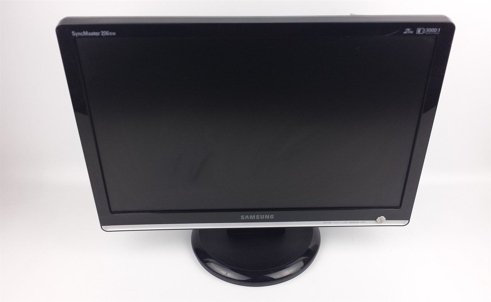 "Samsung SyncMaster 206BW Widescreen LCD Computer Monitor 20"" w/ Power & VGA Cord"