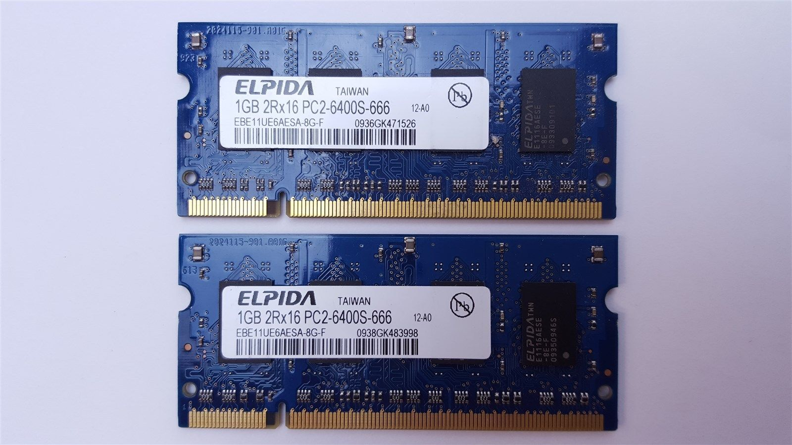 Elpidia 2GB (2 x 1GB) PC2-6400S DDR2 800MHz 200 pin So-Dimm Laptop Memory