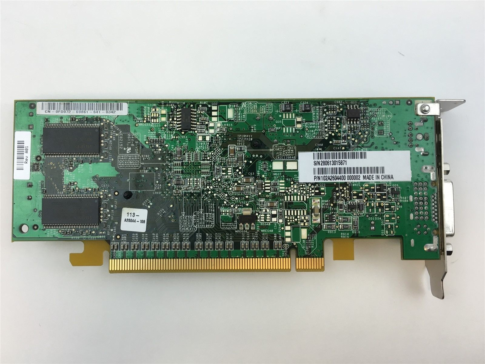 Genuine Dell ATI Radeon X600 PCIe Express DVI HH 128MB Video Card FD072 0FD072