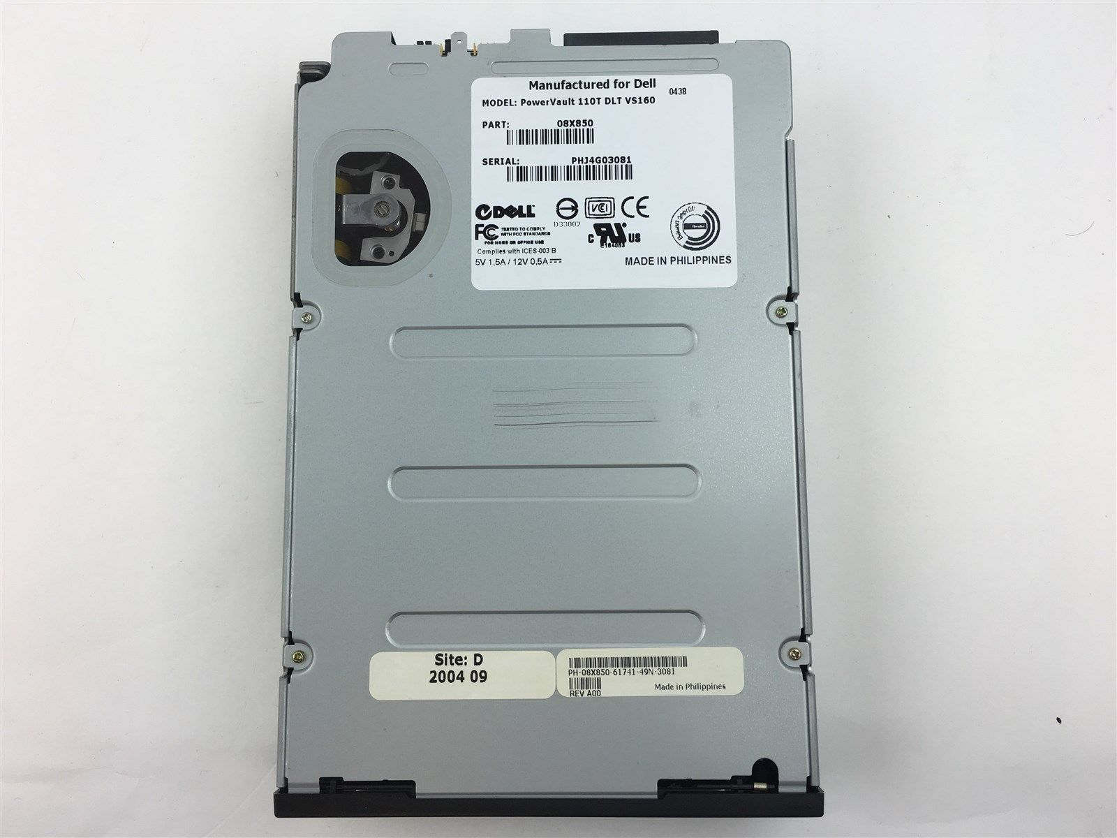Genuine Dell PowerVault 11T DLT VS160 SCSI Tape Drive Internal Data 8X850 08X850
