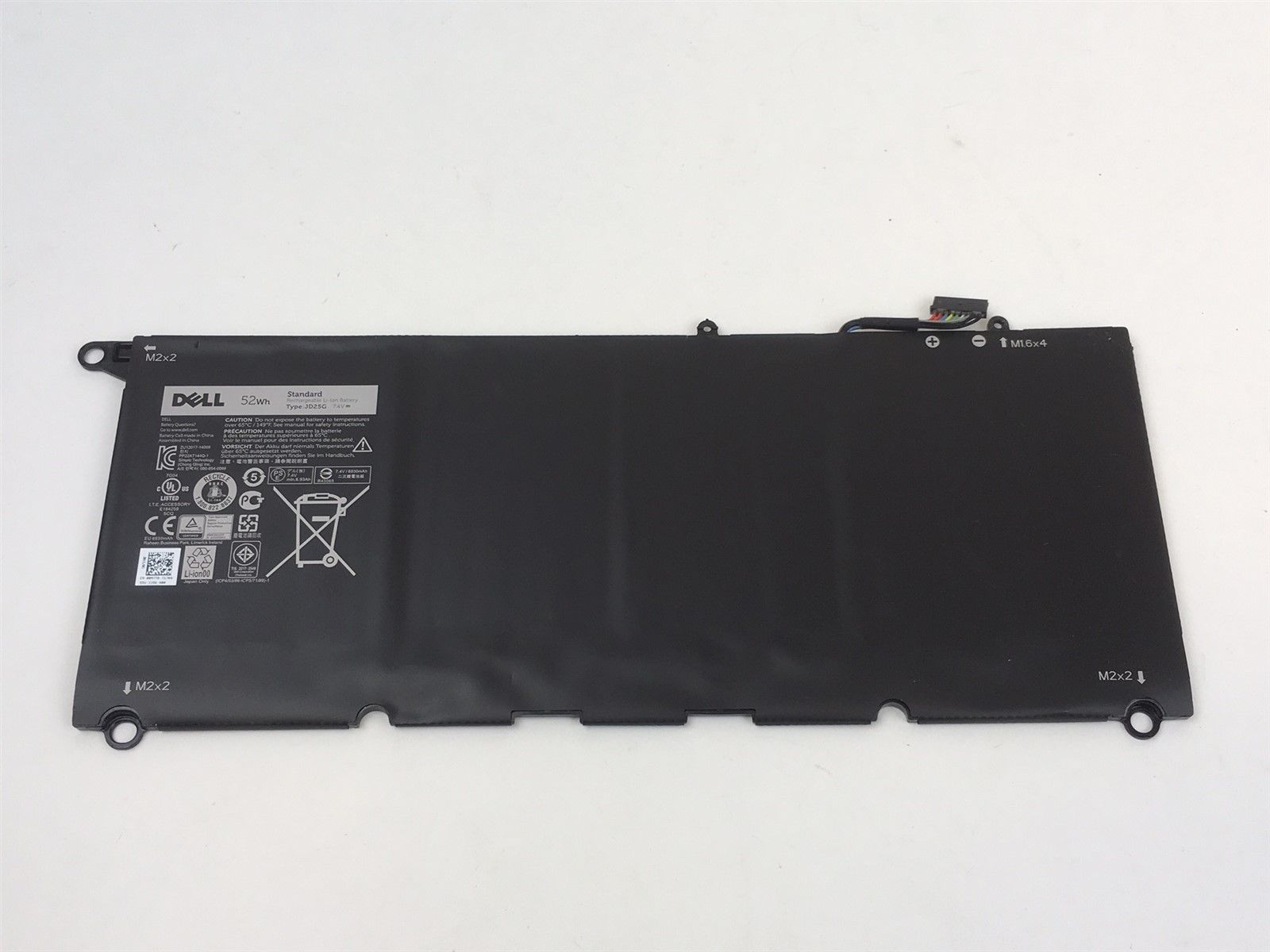 Dell XPS 13 (9343) 7.4V 52Whr Laptop Battery 13D-9343-1808T 0N7T6 00N7T6