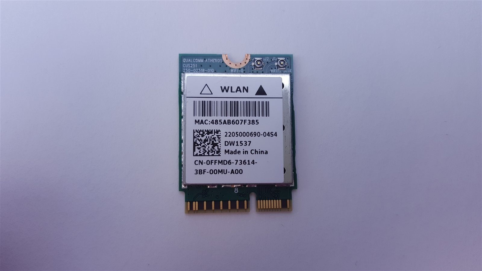 Dell Wireless DW1537 WiFi Wireless Card Bluetooth 4.0 m.2 FFMD6 0FFMD6